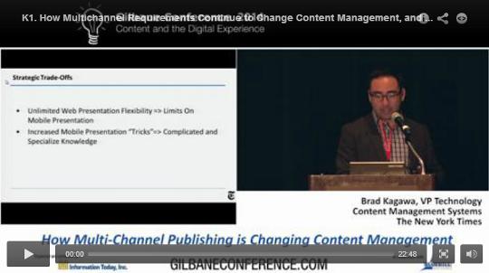 Previous Gilbane Conference Videos